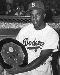 Jackie Robinson, Roy Campanella, and Don Newcombe are the first black